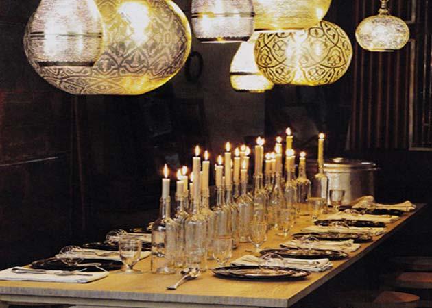 Στολισμός κεριών σε μπουκάλια