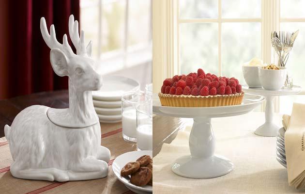Χριστουγεννιάτικο τραπέζι άσπρο-κόκκινο