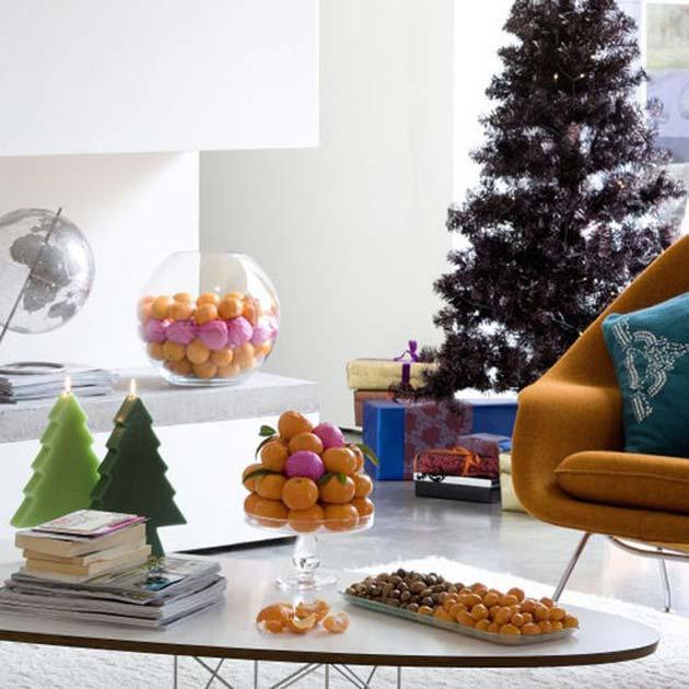 Χριστουγεννιάτικο τραπέζι με πορτοκάλια