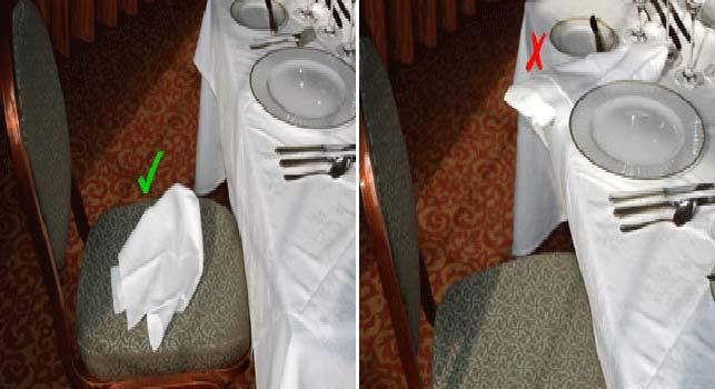 tableart napkins etiquette3 Πως να χρησιμοποιείς την πετσέτα του φαγητού