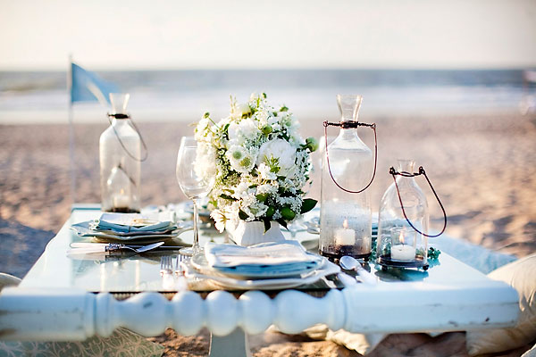 tableart wedding proposal on the beach2 Πρόταση γάμου στην παραλία