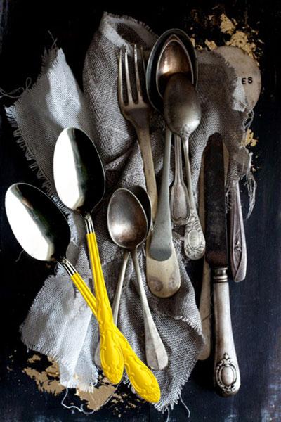 tableart painting cutlery DIY: Δώστε χρώμα στα παλιά μαχαιροπίρουνα