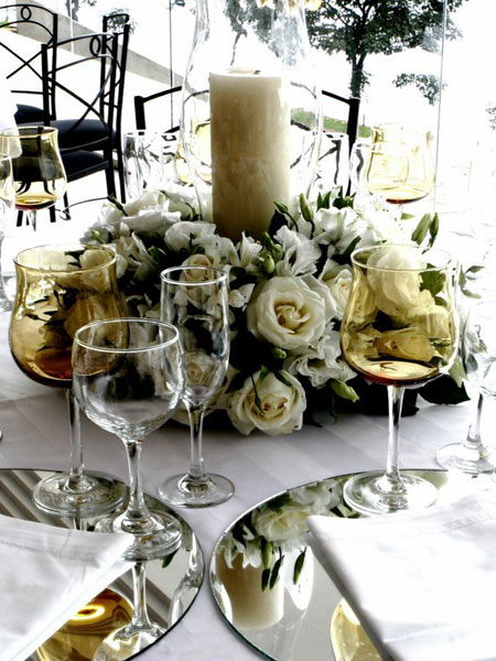 tableart mirrors table setting 1 Καθρέφτες στο τραπέζι