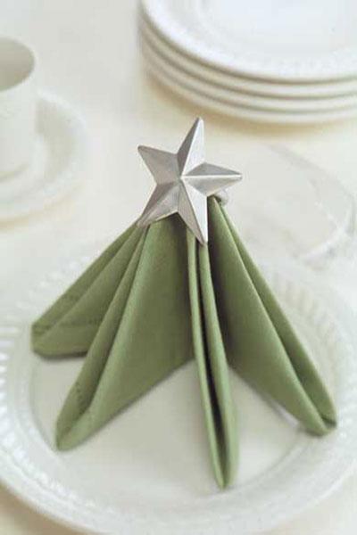 tableart tree napkin fold Δίπλωμα πετσέτας σχέδιο δέντρο