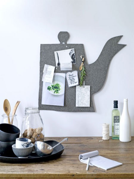 tableart teapot wall memo board Τσαγιέρα. Πίνακας ανακοινώσεων.