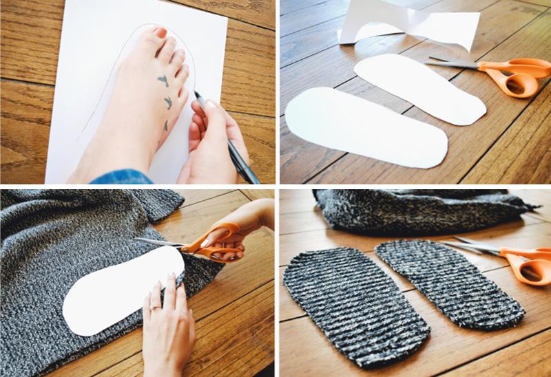 DIY: Πως να φτιάξεις παντόφλες από πουλόβερ