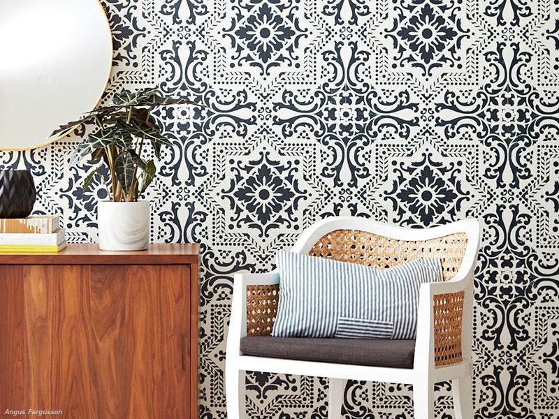 DIY: Βάλε stencil στους τοίχους