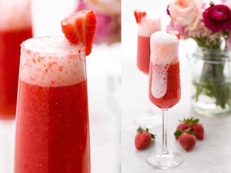 Cocktail σαμπάνιας με φράουλα