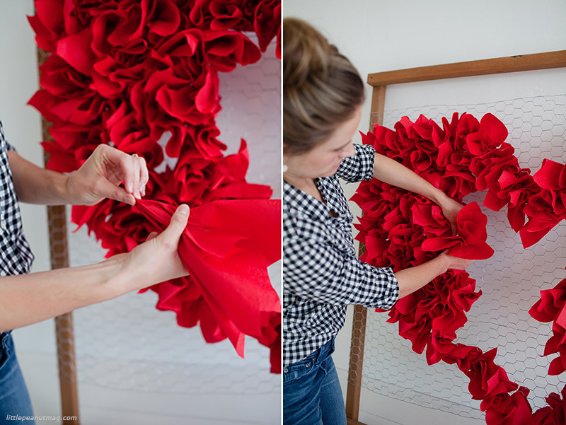 DIY: Φτιάξε μια γιγάντια κόκκινη καρδιά