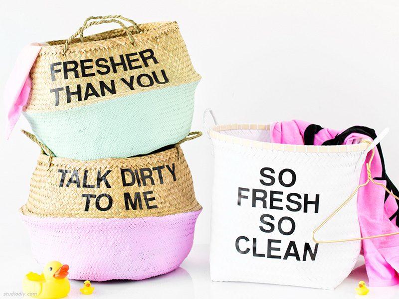 DIY: Καλάθια για τα άπλυτα